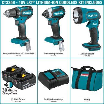 No Batteries Included Makita DTD170Z 18 V Li-ion LXT Brushless Impact Driver